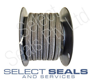GFO Style Braided Graphite Packing - 8 Meterr Box / Roll 3.2 mm - 25.4 mm