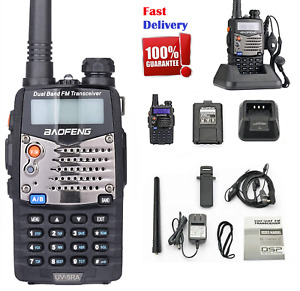 Police Fire Radio Two Way Scanner Dual-Band Transceiver Portable F-Antenna UV5RA
