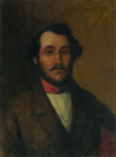 GAETANO DONIZETTI, COMPOSER - PORTRAIT BY ELIAS RIVERA  - ORIGINAL OIL PAINTING