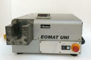 PARKER EOMAT UNI UNIVERSAL ASSEMBLEY MACHINE FOR HYDRAULIC TUBE FITTINGS