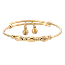 Toddler Jewelry Childrens Yellow Gold Filled Bell Bangle Bracelet Baby Boy Ebay