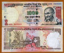 India, 1000 Rupees, 2013, P-107-New, UNC   Gandhi