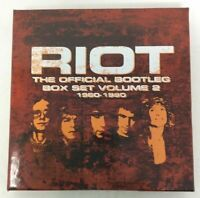 RIOT - THE OFFICIAL BOOTLEG BOX SET, VOL. 2: 1980-1990 [11/24] NEW cd open box