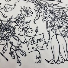 100% Authentic Flora By GUCCI Scarf Silk 64 cm x 64 cm Square