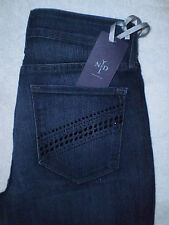 Not Your Daughters Jeans NYDJ Legging Denim Womens Size 2 X 30 Crystals New $120