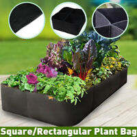 Felt Fabric Plants Grow Bags Raised Garden Flower Bag Elevated Vegetable Box