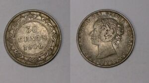 1900 NEWFOUNDLAND HALF DOLLAR VERY FINE/EXTREMELY FINE CONFITION 445-20