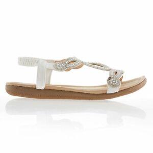 Kasara Diamante Sandal, Black, White. 6, 7, 8 uk jewel Ideal World