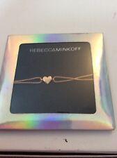 $38 Rebecca Minkoff Rose Gold Tone Heart  Bracelet  RM31