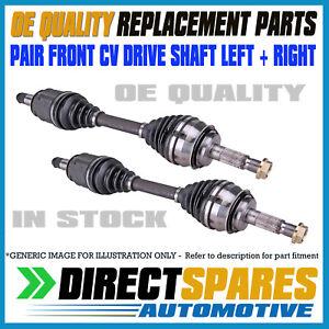 PAIR NISSAN NAVARA D40 4Cyl & V6 12/05 - 2015 CV Joint Drive Shafts LEFT+RIGHT