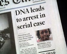 Best GRIM SLEEPER Lonnie David Franklin Jr. Serial Killer ARREST 2010 Newspaper