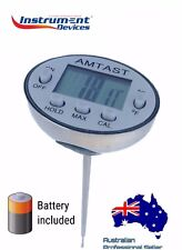 USA Brand Waterproof Stainless Food Drink Coffee Thermometer, Calibration Funct.