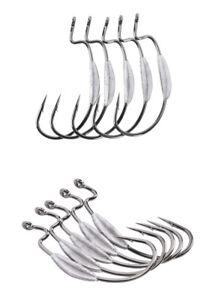 Weighted Worm Hook EWG Jig Head Size 1 - 1.1g, 2/0 - 1.8g, 3/0-2.0g