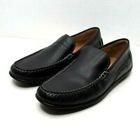 Ecco Brown Leather Loafers Slip On Mens Shoes Size Extra Width  EUR 43 US 9-9.5