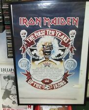 IRON MAIDEN POSTER DEATH ORIGINAL NEW 1ST TEN YEARS 1990 HEAVY METAL