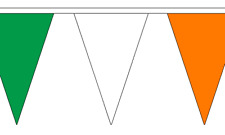 Green, White and Orange Triangle Bunting 54 flags on this 20 meter Long Bunting