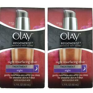 Olay Regenerist Night Resurfacing Elixir Treatment Night 1.7 oz  (2 Pack)