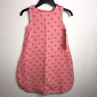 Pink Polka Dot Baby Sleeveless Bunting Newborn-12 Month David Fussenegger NEW