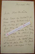 Rare L.A.S de Gus BOFA Dessinateur & illustrateur - Gustave Blanchot Lettre LAS