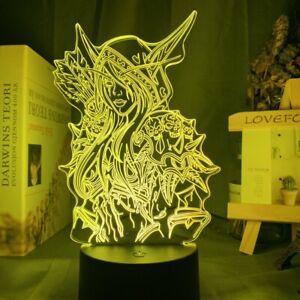 World of Warcraft Sylvanas Windrunner 3d LED Nachtlicht Kinderzimmer Tischlampe