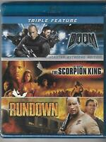 Doom & The Scorpion King & The Rundown (Blu-ray Set) Brand New Dwayne Johnson