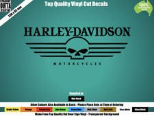 HARLEY DAVIDSON DECAL - VINTAGE, CHOPPER, MAN CAVE - BLACK or COLOURS