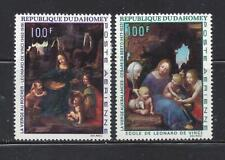 DAHOMEY (REP) -C95-C96 - MH -1969 - CHRISTMAS PAINTINGS BY DA VINCI AND DA SESTO