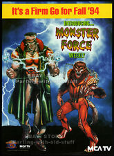 MONSTER FORCE__Original 1994 Trade AD / poster__TV series Fall promo__Universal