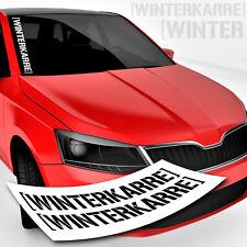 Tuning Sticker Winterkarre | Schriftzug | Winterschlampe Winterauto Aufkleber