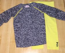 USED JUICY COUTURE 2 PIECE OUTFIT GIRLS 18 24 MONTHS BLUE YELLOW SWEATER LEGGING