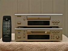 DENON CD Player DCD-F100. DMD-F100 MiniDisc Player / Recorder sold as a pair.