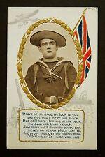WW1 Postcard 1914 Airplane Battleship Cannon Steele Road Leytonstone London