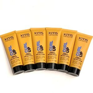 6x KMS California Curl Up leave in conditioner 1.7oz EA 10.2oz Total Travel Size