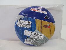 Craftomat 20134970 Schleifblätter Ø115 mm Körnung,80/120/240 siehe Foto WT9666