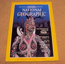 National Geographic April 1983 Trash Chattoogga Jerusalem Puerto Rico Antarctic