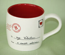 Starbucks My Valentine Coffee Mug Cup 2010 Bone China Secret Admirer Love Letter