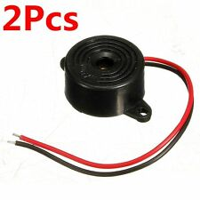 2x 12V DC 95DB Black Piezo Electronic Tone Buzzer Alarm Continuous Sound 3-24V