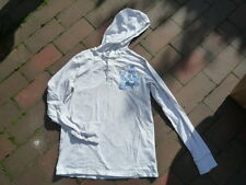 H&M Shirt Langarmshirtmit Kaputze Pullover 158/164 hell grau Hoody Jungen