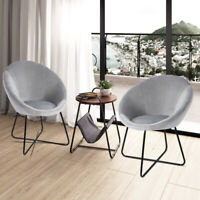 Dining Chair Velvet Single Sofa Chair with Metal Legs Reception Guest Chair UK