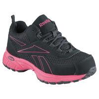 New Reebok RB486 Womens Ateron Cross Trainer Black/Pink Trim Steel Toe All Sizes