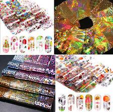 Sets of 5 Strips Nail Art Transfer Foil, Halloween, Christmas, Animal, Gold, UK