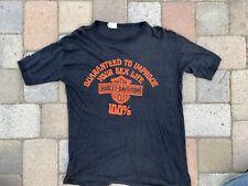 Vintage 70s 80s Harley Davidson Motorcycles Sex Life Tee T Shirt 3D Rare