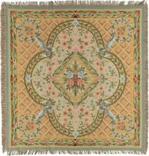"""NEW 60"""" SAVONNERIE BELGIAN TAPESTRY TABLE CHAIR THROW BED SPREAD 717"""