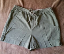 Faded Glory Sea Green Ladies Elastic Pull on Shorts Size Large