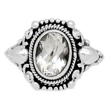 Crystal 925 Sterling Silver Ring Jewelry s.6 CRYR1494