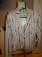 LADIES DESIGNER JOULES PIN STRIPE JACKET UK 14 RRP £120.00