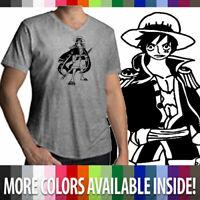 Unisex Tee T-Shirt Mens Women Gift Print One Piece Pirate King Luffy Anime Manga