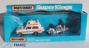 Matchbox SuperKings K-97 Range Rover Police Set Poor Packing FNQHotwheels FM492