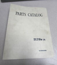 Samsung SE210W-2A Hydraulic Excavator Parts Manual Catalog 1191-03050