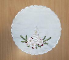 Deckchen Mitteldecke Weihnachten mit Stickerei ca. 23,5 cm